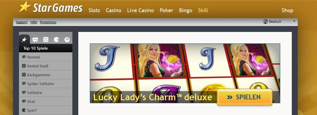 Lucky Ladys Charm Deluxe bei Stargames