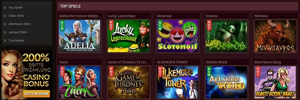 18Bet Casino Spiele Angebot
