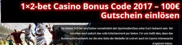 1x2-bet Casino Bonus