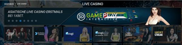 1xbet Casino Live Casino