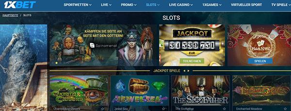 1xbet Casino Spiele