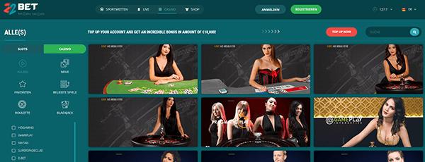 22bet Casino Livecasino