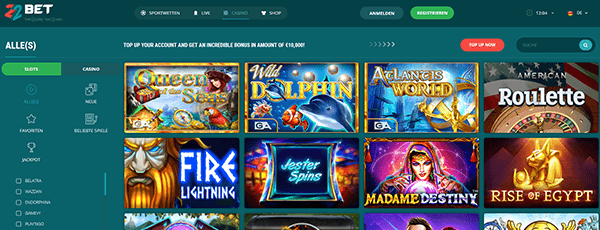 22bet Casino Spiele