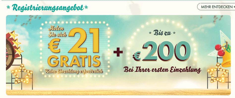 777 Casino Bonus ohne Einzahlung – 21 Euro Gratisgeld verfügbar