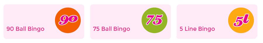 Die Bingo Varianten bei 888ladies