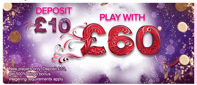 Neukundenangebot von 888ladies Bingo