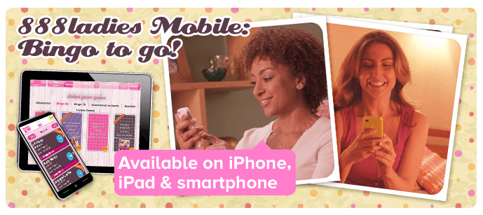 Die 888ladies App für Smartphones und Tablets