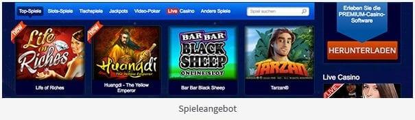 AllSlots Casino Spiele Angebot