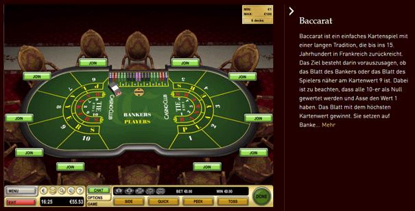 Baccarat PayPal CasinoClub