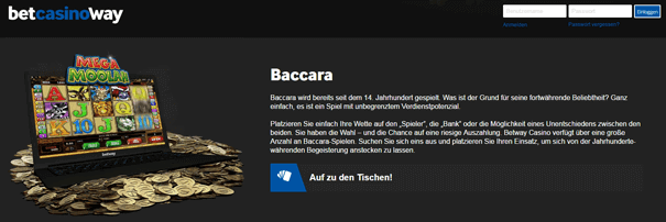 Baccarat PayPal betway Casino