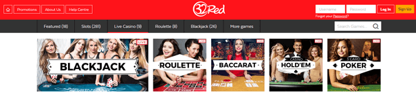 Baccarat PayPal 32Red Casino