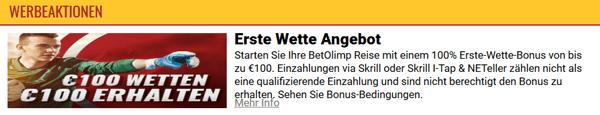 Betolimp Casino Bonus