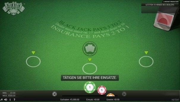 Klassisches Blackjack kann bei Leo Vegas umsonst gespielt werden