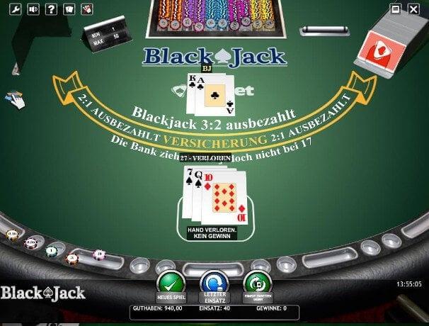 Blackjack Versicherung