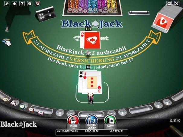 Der Spieler hat die Versicherung gegen Blackjack abgelehnt
