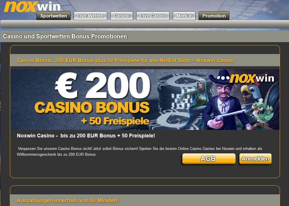 Noxwin Casino Bonus für Neu- und Bestandskunden
