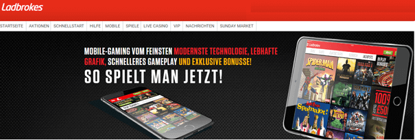Casino mit PayPal Handy iPhone Android Ladbrokes
