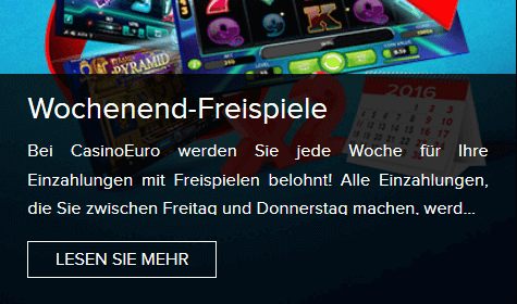 CasinoEuro Free Spins als Bonus-Aktion