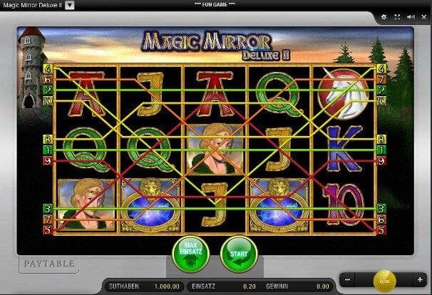 Magic Mirror Deluxe II von Merkur - Verfügbar bei Sunmaker und Sunnyplayer Echtgeld Casino