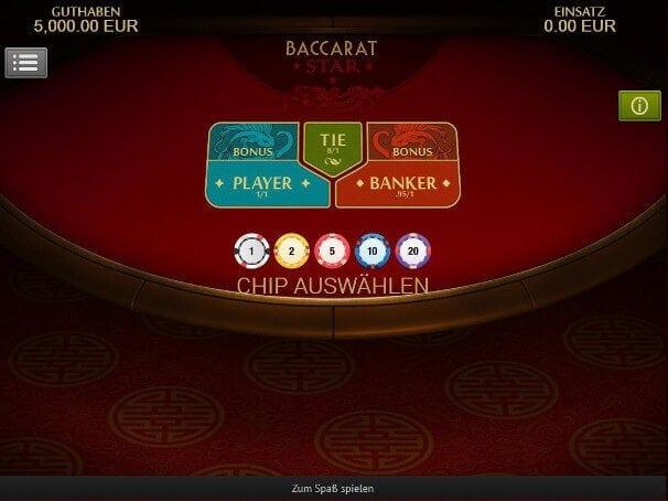 Baccarat kann in vielen Echtgeld Casino Spielen bespielt werden
