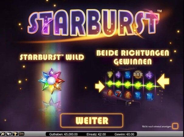 Beim Spiel Starburst werden besonders häufig Freispiele vergeben