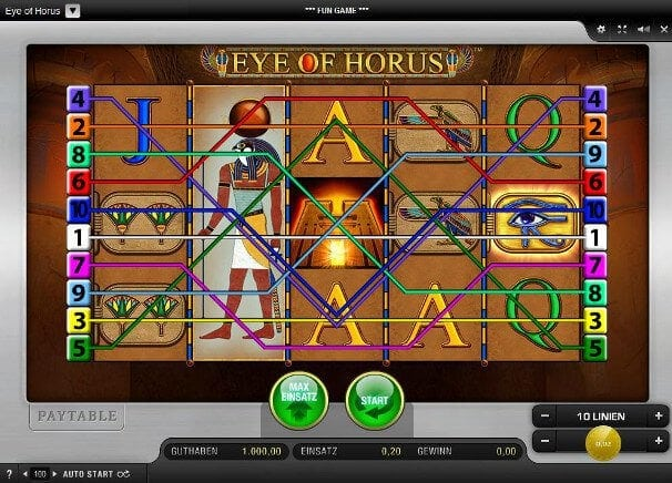 Eye of Horus wird nur bei seriösen Casinos angeboten