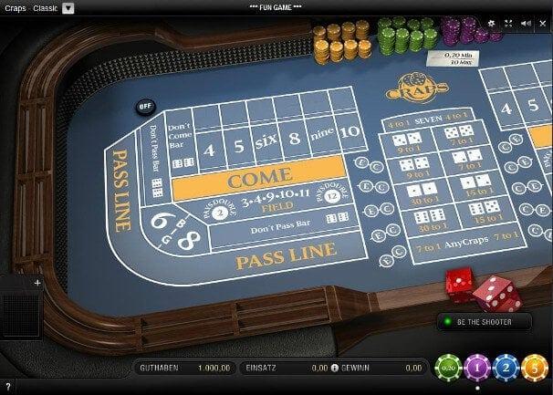 Craps sollte als klassisches Casinospiel von guten Casinos angeboten werden