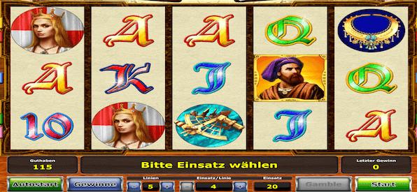 Das ist der Spielbildschirm von Columbus Deluxe