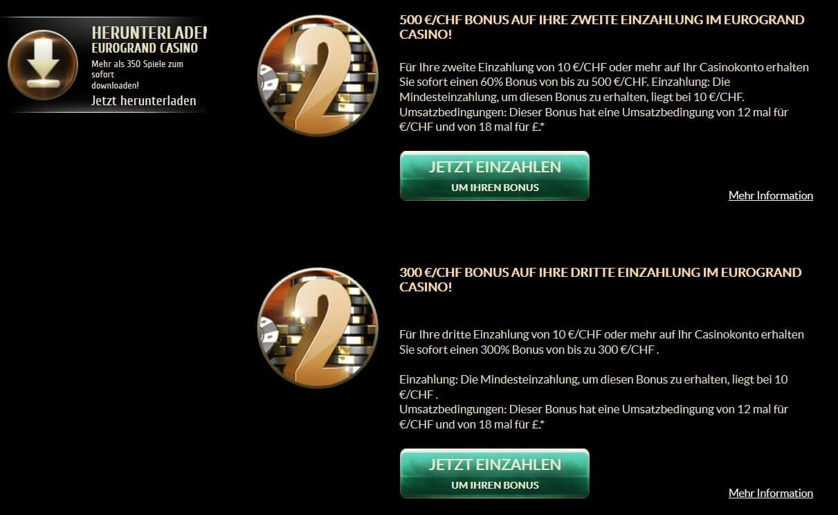 EuroGrand Casino Aktionen Überblick