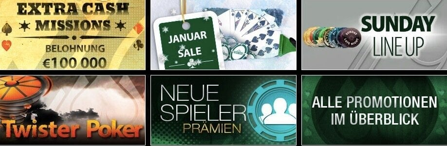 Promotionen bei Everest Poker