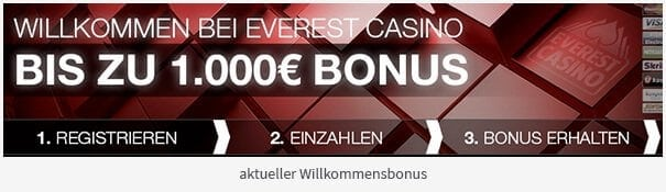 Everest Casino Bonus