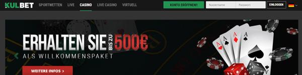 Kulbet Casino Spiele Bonus