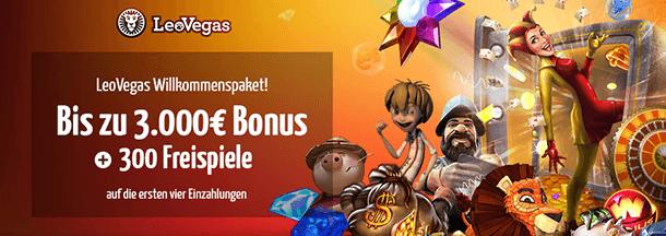 LeoVegas Bonus ohne Einzahlung
