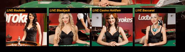 Live Casino PayPal Ladbrokes