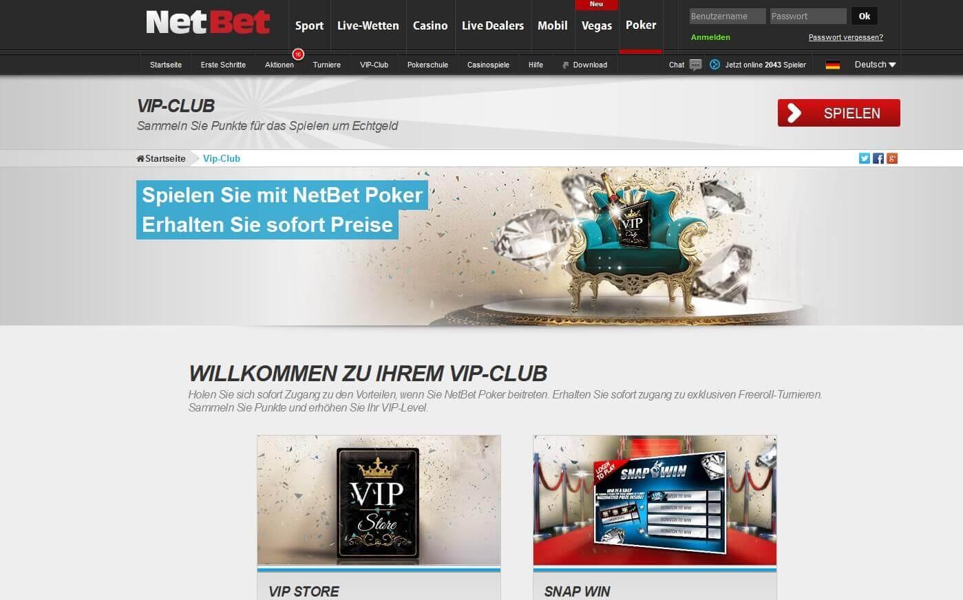 Der NetBet VIP Club für Bestandskunden