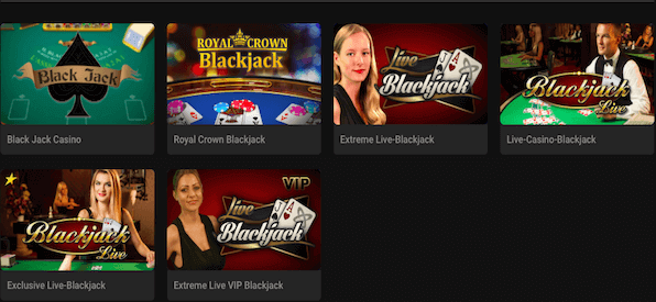 Eine Auswahl an Blackjack-Spielvarianten