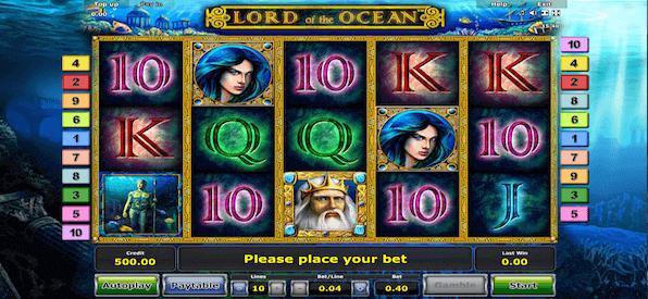 Das ist die Spieloberfläche von Lord of the Ocean