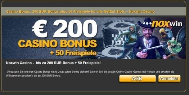 Noxwin Casino Bonus für Neukunden