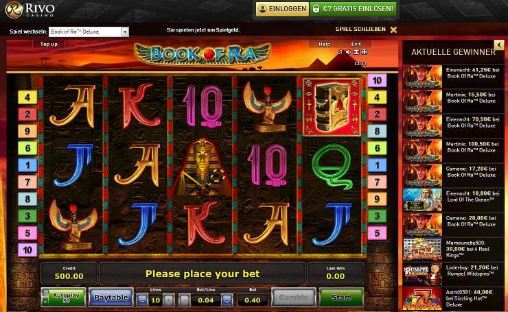 online casino mit book of ra sizling hot