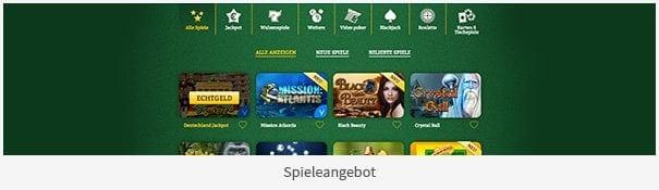 OnlineCasino.de Erfahrungen mit dem Spieleangebot