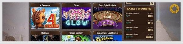 Osiris Casino Spieleangebot