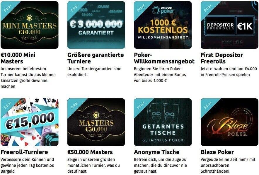 Bonusaktionen bei PKR Poker