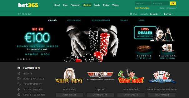 PayPal Casino Schweiz bet365