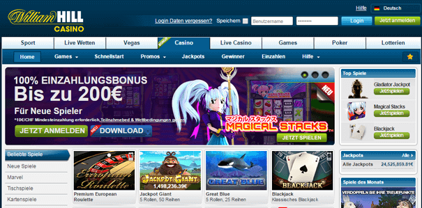PlayTech Casino William Hill PayPal