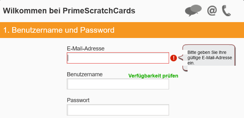 PrimeScratchCards Anmeldung