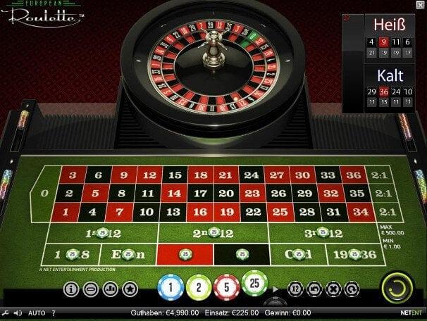 ohne roulette strategie  - unglücklich gesetzt