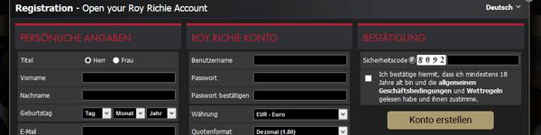 Roy Richie Casino Anmeldung