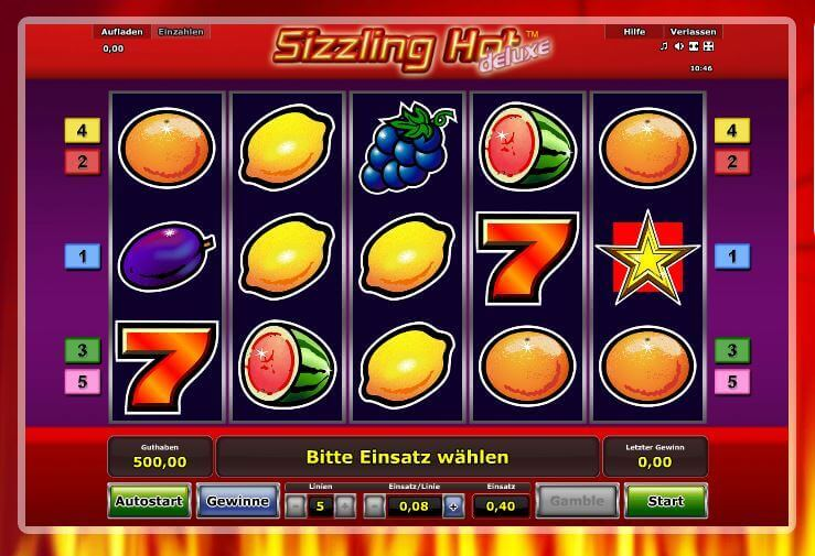 online casino games sizzling hot casino
