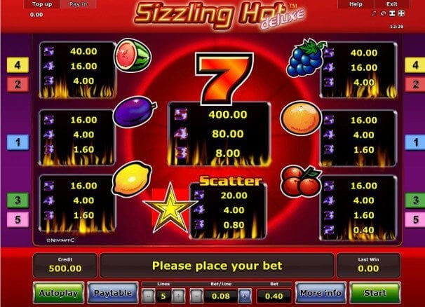 casino sizzling hot tricks