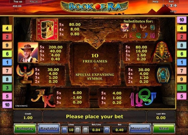 casino online test book of ra 50 euro einsatz